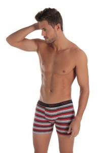 cueca boxer em viscolycra listrada vermelho