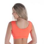 Top fitness com geométrico e strappy - Rafaela