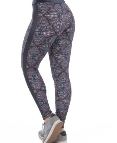 Calça Fitness em Tecido Estampado - Paola