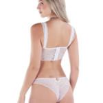 conjunto de lingerie com strass branco