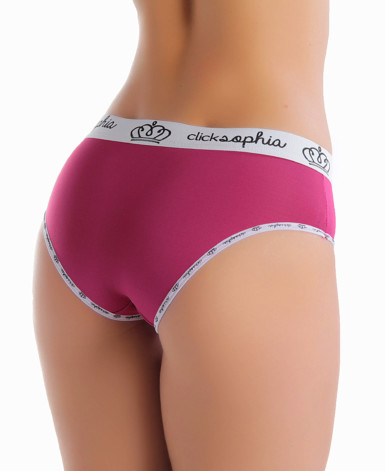 Cueca feminina com elastico estampado