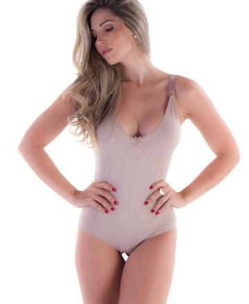 Body modelador em algodão