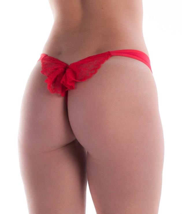 Calcinha sensual com laço de renda
