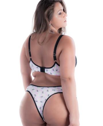 conjunto de lingerie plus size sensual