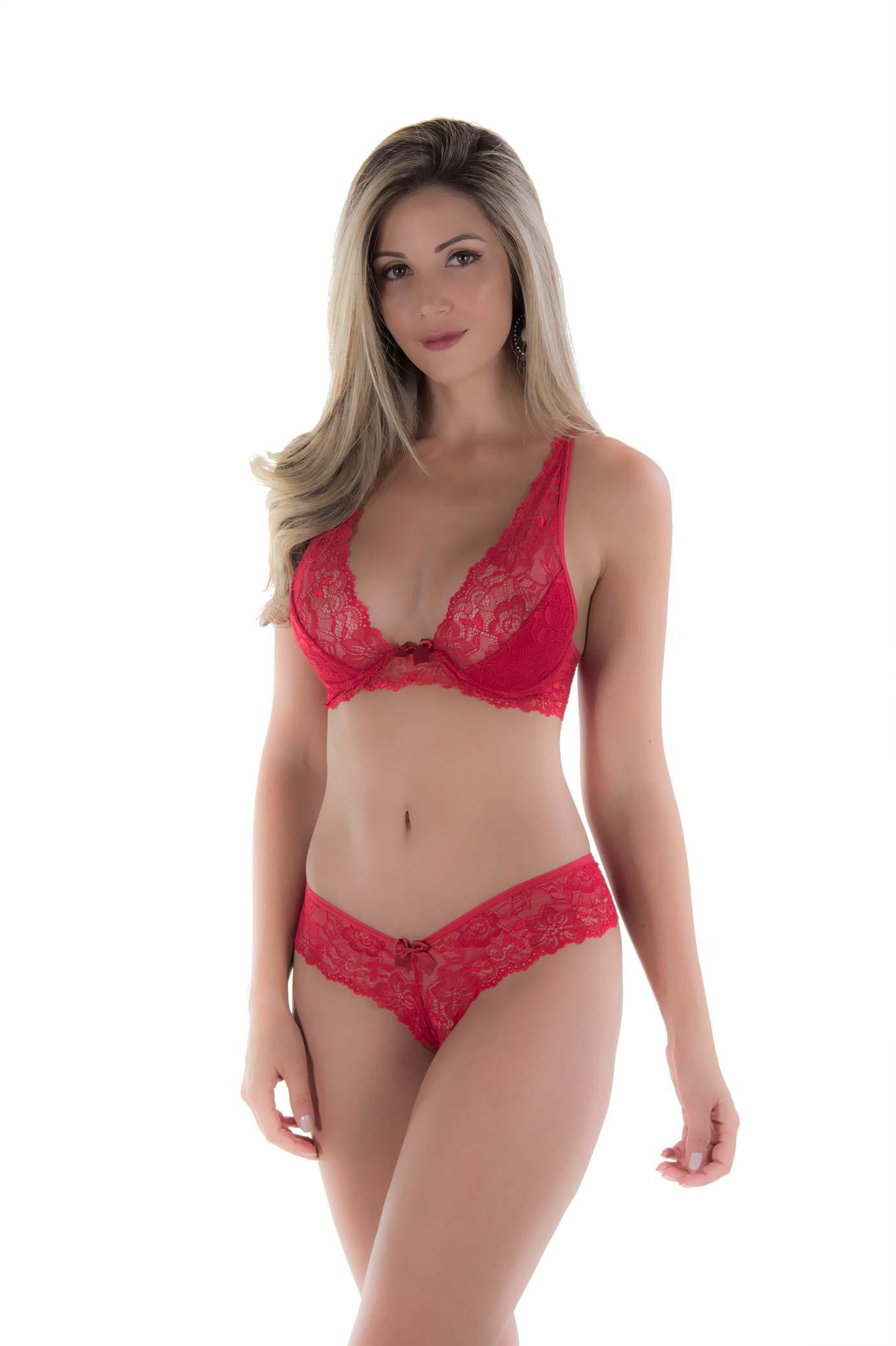 1d31ad431 Conjunto de lingerie sem bojo com arco só na Click Sophia