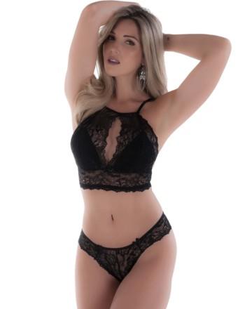 Conjunto de lingerie estilo decote – Flavia ce88e70651d