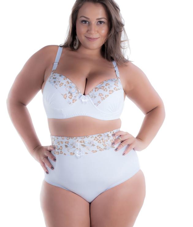 Conjunto plus size alto na cintura - Neuza
