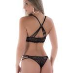 Conjunto de lingerie com tiras nas costas