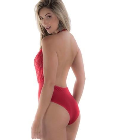 Body feminino em poliamida