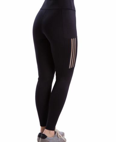 Calça legging fitness com transparência nas pernas