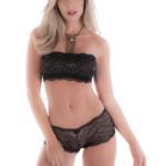 Conjunto de lingerie com bustiê