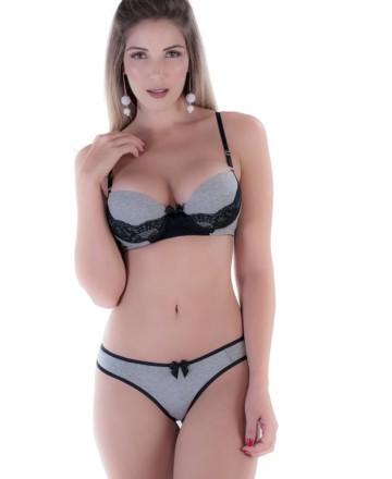 Conjunto sensual em algodão