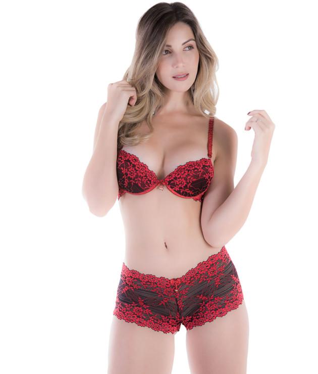 Conjunto de lingerie de calesson bicolor