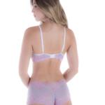 conjunto de lingerie de calesson bicolor rosa