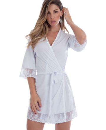 Robe Feminino em microfibra branca