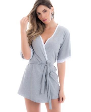 Robe feminino em algodão