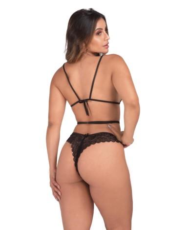 Conjunto cintura alta com renda sensual - Liana