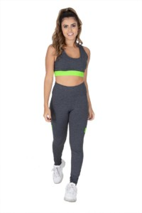 Conjunto fitness mesclado