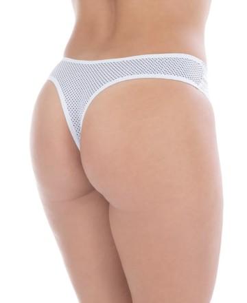 Calcinha sensual com poá na cintura
