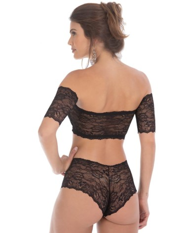 Conjunto bustiê top off - Bettina