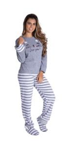 Pijama longo estilo soft