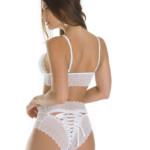 Conjunto de lingerie com calcinha lacradora COSTAS BRANCO