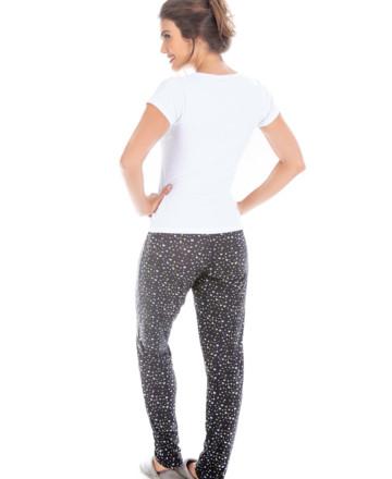 Pijama com calça estampada