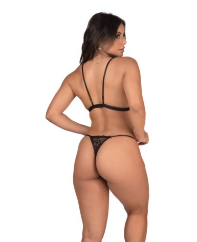 Conjunto de lingerie em tule e renda – Lisete