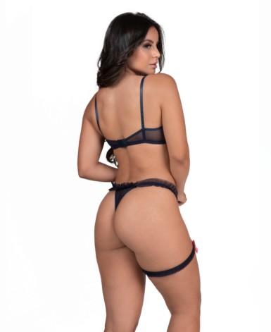 Conjunto sexy com perneira - Natielly