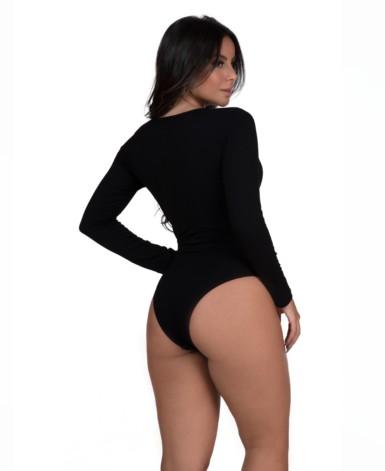 Body manga longa com tiras – Beatriz
