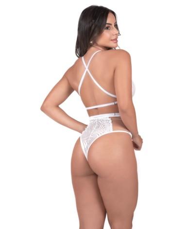 Body feminino aberto nas costas - Pamela