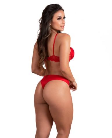 Conjunto sexy em renda - Mila