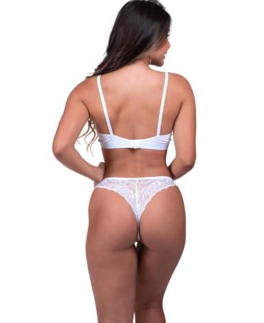 Conjunto de lingerie em tule sem bojo - Stephanie