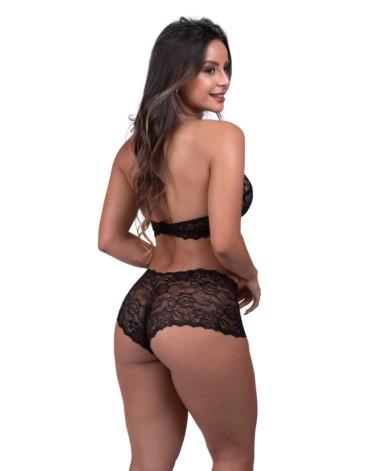 Conjunto de lingerie sem bojo frente única - Fiorella