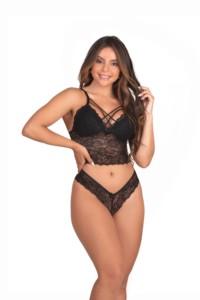 Conjunto de lingerie strappy sem bojo – Kasey