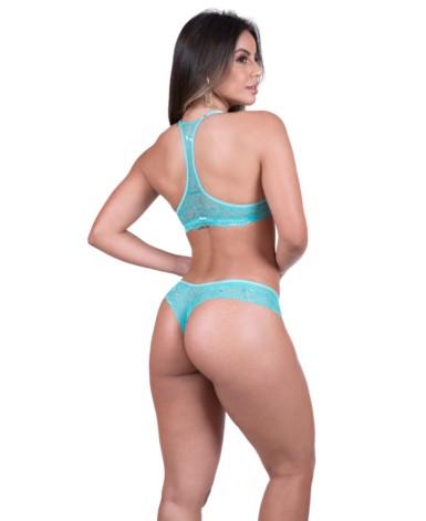 Conjunto de renda estilo nadador - Darla