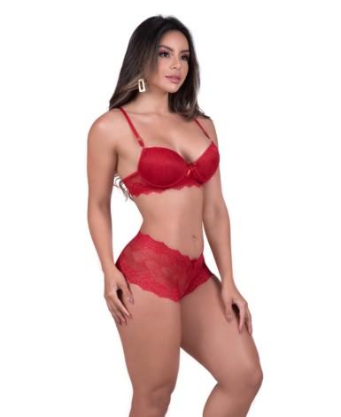 Conjunto sexy em renda - Vera