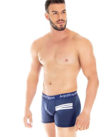 Cueca boxer com listras brancas - João