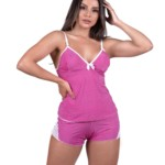 Short doll com renda aberto nas costas - Mariana