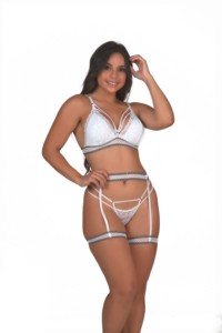 Conjunto sensual com cinta liga – Maxine