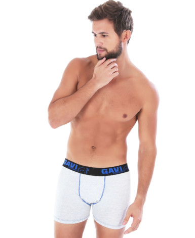 Cueca Boxer em algodão mescla - Hector
