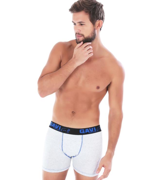 Cueca Boxer em algodão mescla