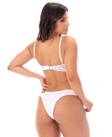 Conjunto de lingerie com renda e tule - Taina