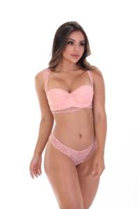 Conjunto de lingerie com strass - Katrina