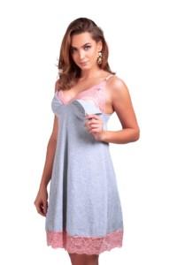 Camisola de amamentação em algodão - Isadora
