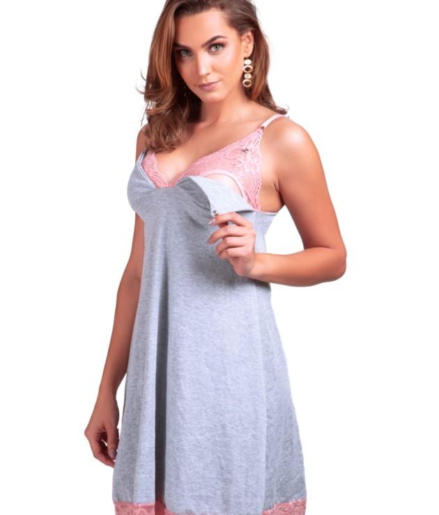 Camisola de amamentação em algodão