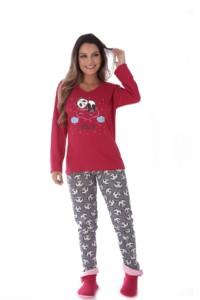 Pijama feminino estampado em malha