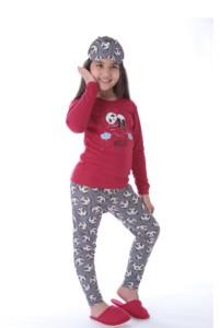 Pijama infantil de malha estampada