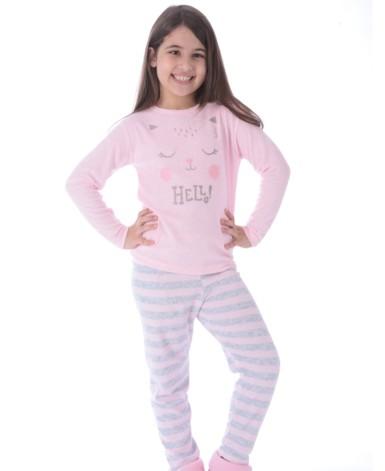 Pijama infantil plush estampado