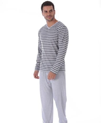 Pijama pv masculino listrado